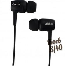Проводные наушники с микрофоном внутриканальные Celebrat G1 (black)