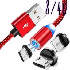 Набор магнитного кабелья с носадками на Андроид, TYPE-C и IOS