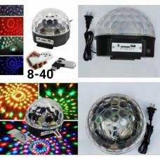 Музыкальный проектор диско-шар LED Ball Light c MP3 плеер с Bluetooth