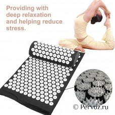 Массажная подушка акупрессурный коврик для снятия стресса боли в спине