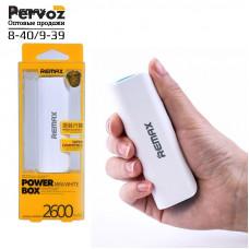 Remax Mini White Power Box  Внешний аккумулятор 2600mAh