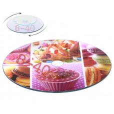 Вращающаяся стеклянная подставка для торта